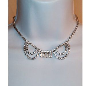 Rhinestone Crystal Chandelier Drape Necklace